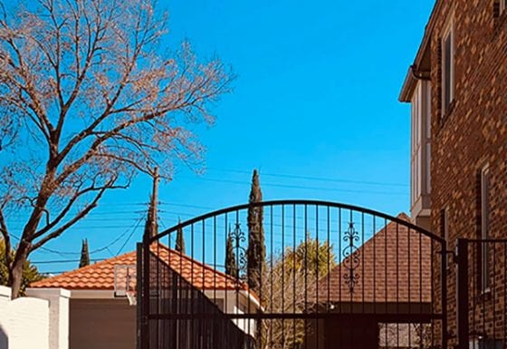 Ornamental Iron Security Gate